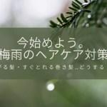 【6月のヘアケア】今からできる梅雨対策とは??