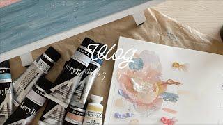 Vlog|趣味のアクリル画、IKEAとコストコ、ファミュの最高スキンケア