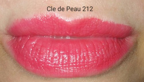 Cle de Peau Beaute Extra Rich Lipstick #212 - swatched on lips - with flash