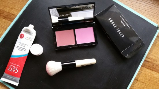 On my face: Cotz and Bobbi Brown Blush Duo in Sand/Pale Pink
