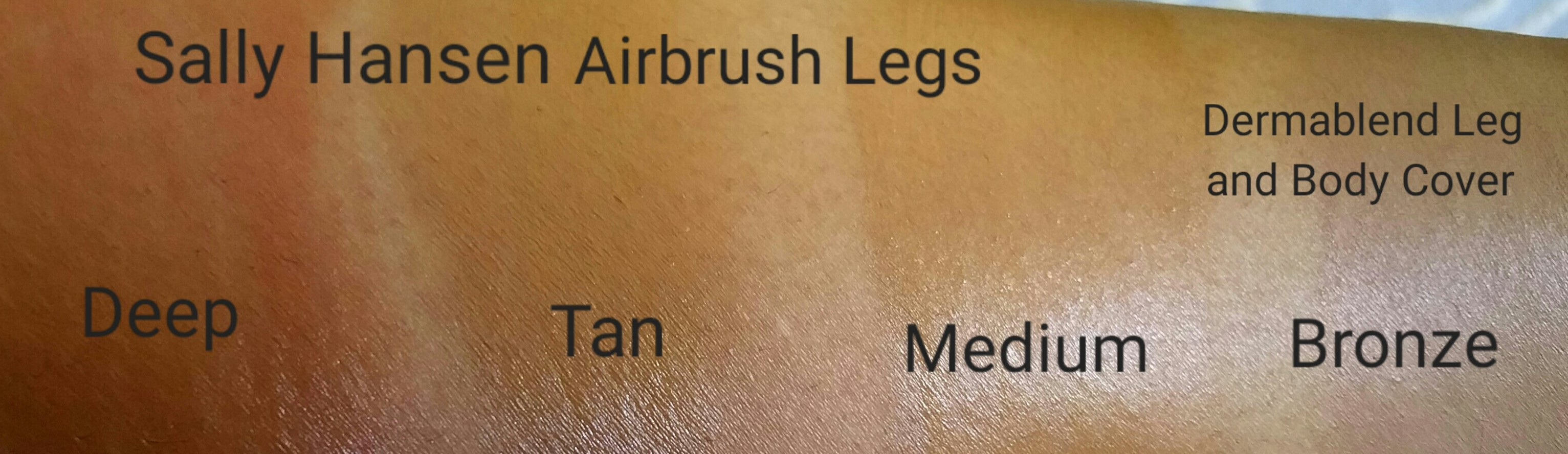 Quick Swatches Sally Hansen Airbrush Legs In Deep Tan And Medium
