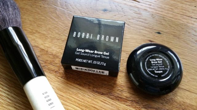 Bobbi Brown Long-Wear Brow Gel in Taupe and Bronzer Brush in the corner