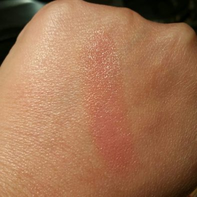 Coola Mineral Liplux SPF 30 in Nude Beach, swatched