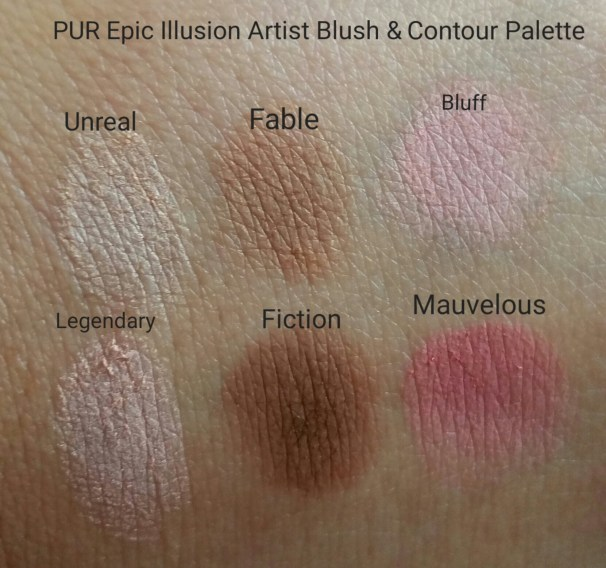 Swatches of Pur Epic Illusion palette
