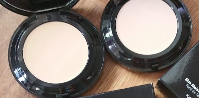 Bobbi Brown Skin Moisture Compact Foundation - Cool Ivory and Beige - left to right
