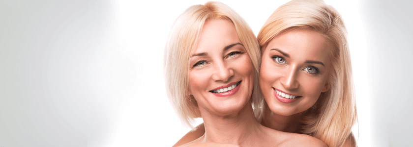 beautiful women at different ages
