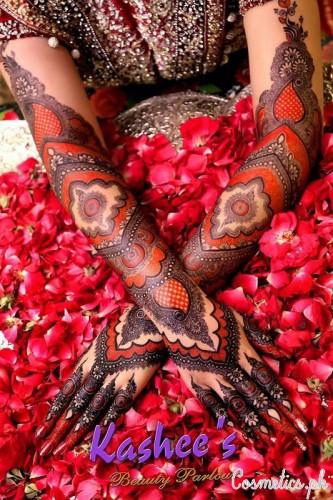 Bridal Mehndi By Kashees Red Bridal Hand Mehndi