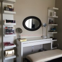 Makeup Storage and Organization: Ikea Lack Shelf Unit & Malm dressing table