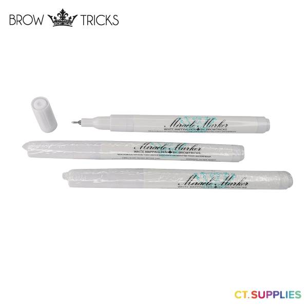 Brow Tricks Miracle Marker White Ultra Thin UK 3 Pack