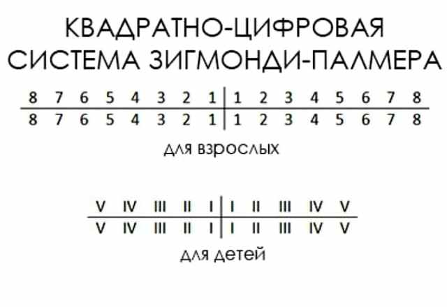 Квадратно-цифровая (система Зигмонди-Палмера)