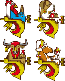 GM BM 2011 Country Team Logos Designed by Steffen Mackert