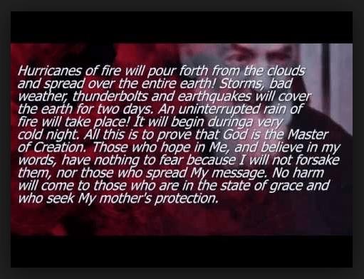 "Padre Pio and the ""Three Days of Darkness"""