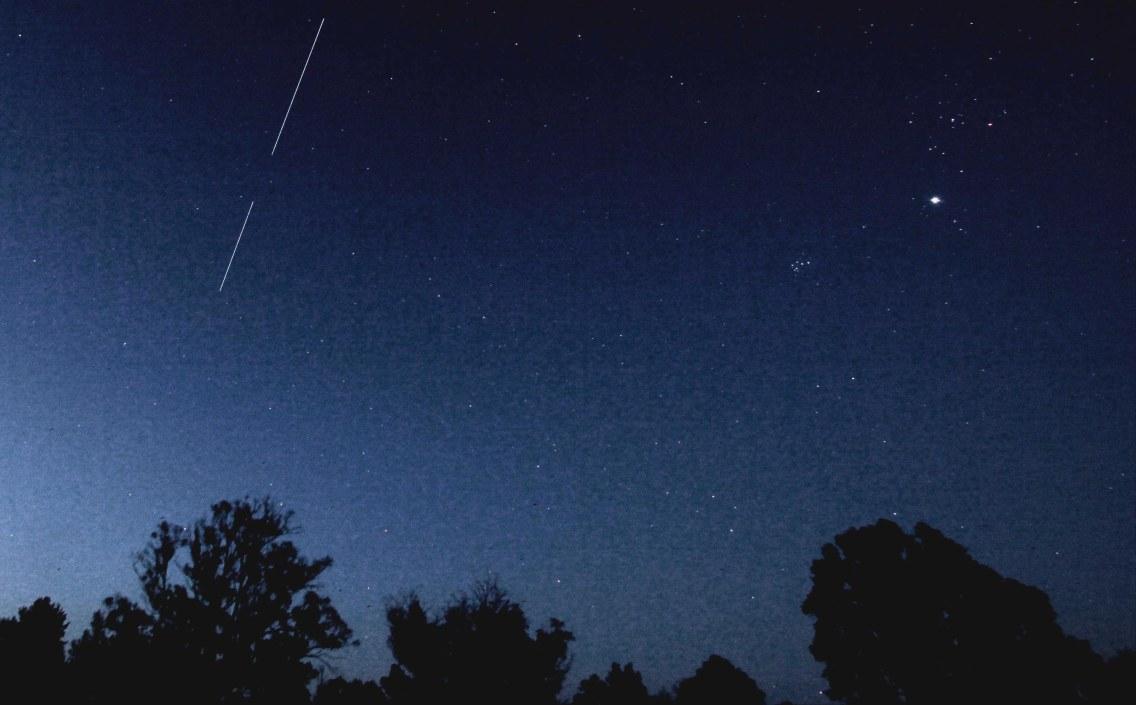 2013-01-05: ISS, Pleiades, Taurus & Jupiter.