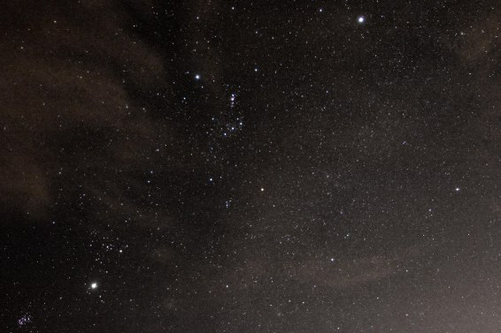 2013-01-05: Orion & Milky Way - spoilt by clouds.