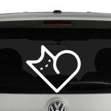 Cat heart Shape Vinyl Decal