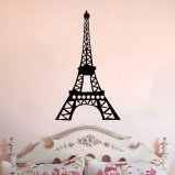 Eiffel Tower Whimsical Design Vinyl Wall Decal