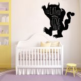 Where the wild things are Inspired Vinyl Wall Decal, Ill eat you up I love you so, Wild things quote
