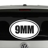 9mm Oval Euro Style Gun Ammo Vinyl Decal Sticker