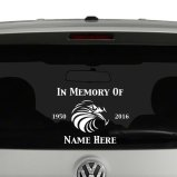In Memory Of Vinyl Decals