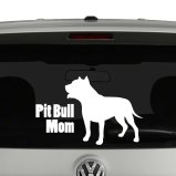 Pit Bull Mom Vinyl Decal Sticker