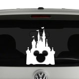 Disney Castle with Mickey Mouse Vinyl Decal Sticker