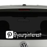 Pinterest Icon Account Tag Vinyl Decal Sticker Social Media