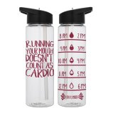 Water Tracker - Running Your Mouth Doesn't Count as Cardio Sports Water Bottle 24 Oz