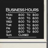 Business Basic Store Hours Sign Full Week Vinyl Decal Sticker Window Door