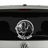 Boxer Mom Dad Dog Headshot Vinyl Decal Sticker