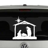 Christmas Nativity Manger Scene Vinyl Decal Sticker