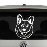 Peace Love Puppies Corgi Dog Lovers Vinyl Decal Sticker