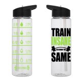 Water Tracker – Train Insane Or Stay The Same Sports Water Bottle 24 Oz