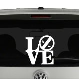 Love Deadpool Vinyl Decal Sticker