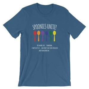 Spoonies Unite - But Maybe Tomorrow Chronic Illness Awareness T-Shirt