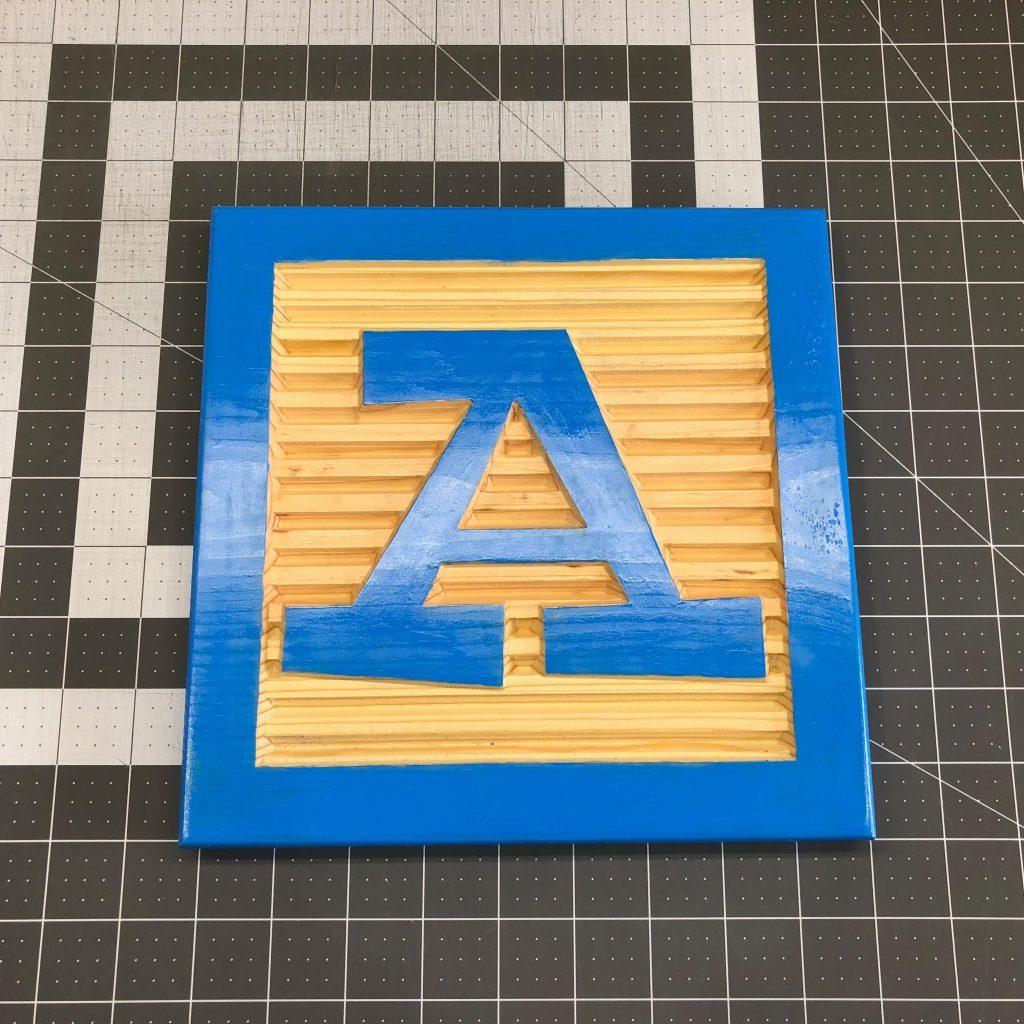 Wooden Letter Alphabet Block Faces For Nursery Or Kids