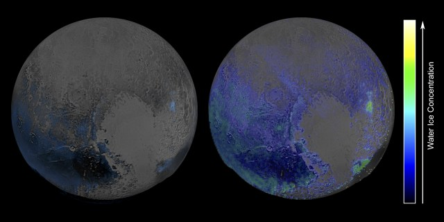Image: Pluto water map