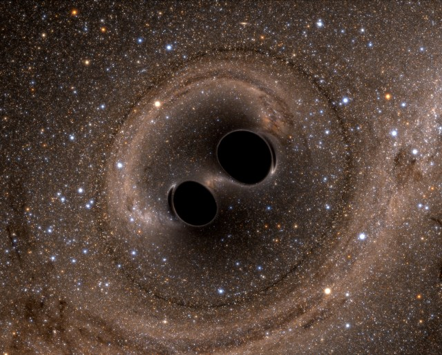 Image: Black hole merger