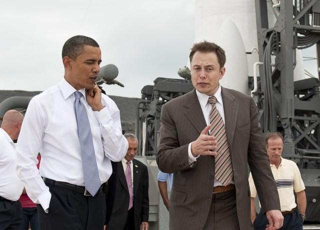 Image: Elon Musk and Barack Obama
