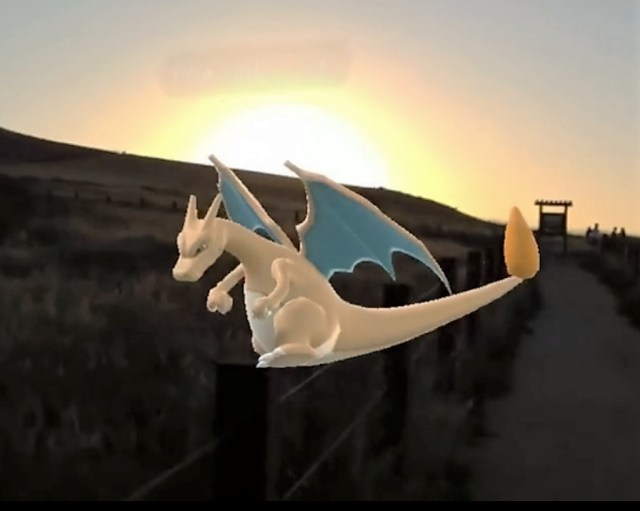 Charizard on HoloLens