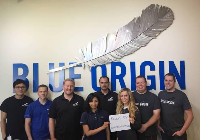 Image: Blue Origin engineers