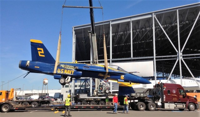 Blue Angels jet unloaded