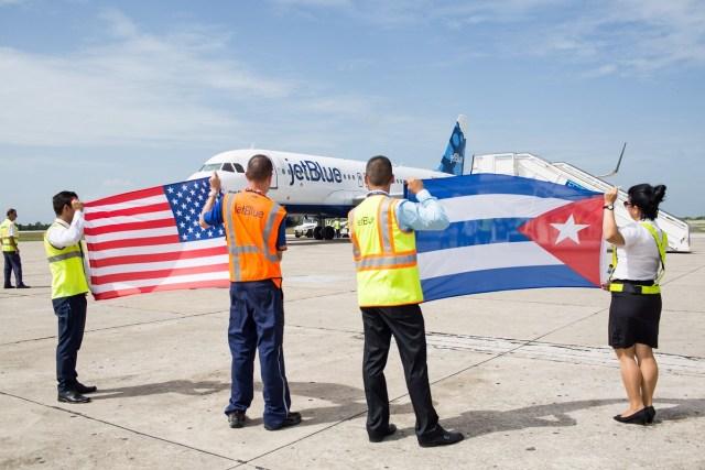 Image: JetBlue arrival in Cuba