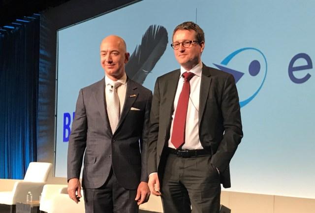 Jeff Bezos and Rodolphe Belmer