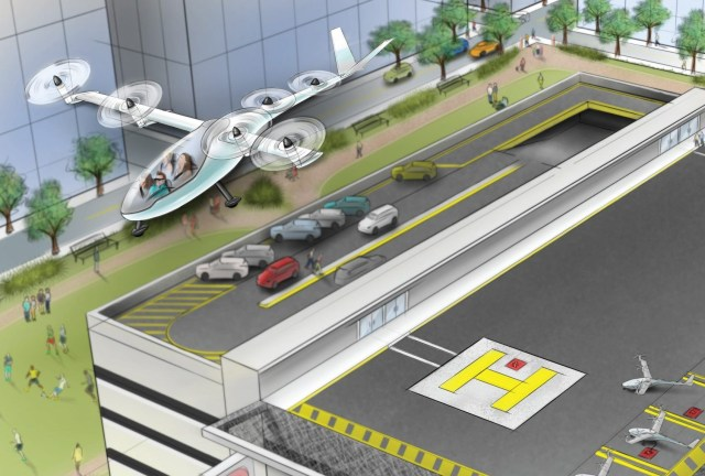Uber concept for flying cars