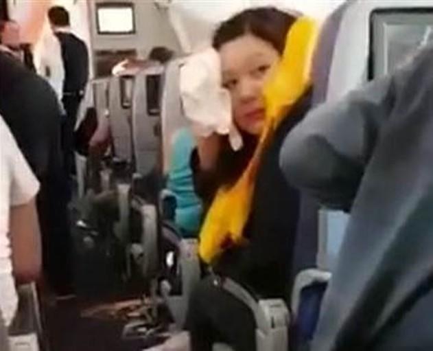 Aeroflot passenger cabin