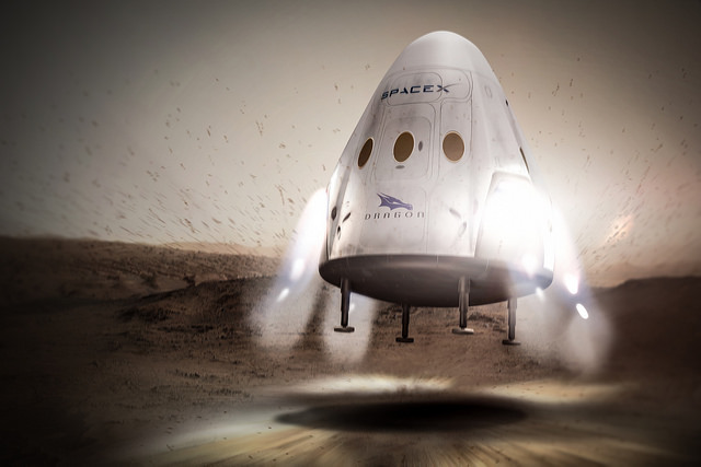 SpaceX Red Dragon landing