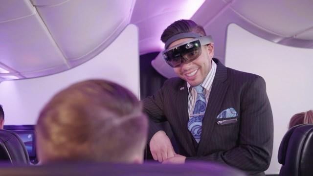 HoloLens on flight attendant