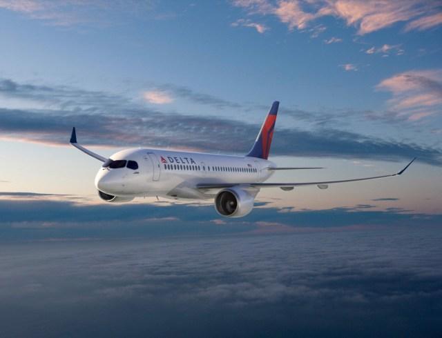 Delta Bombardier jet