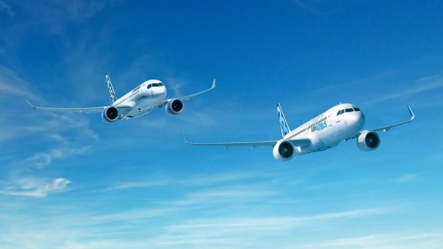 Airbus and Bombardier jets
