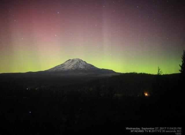 Mount Adams aurora